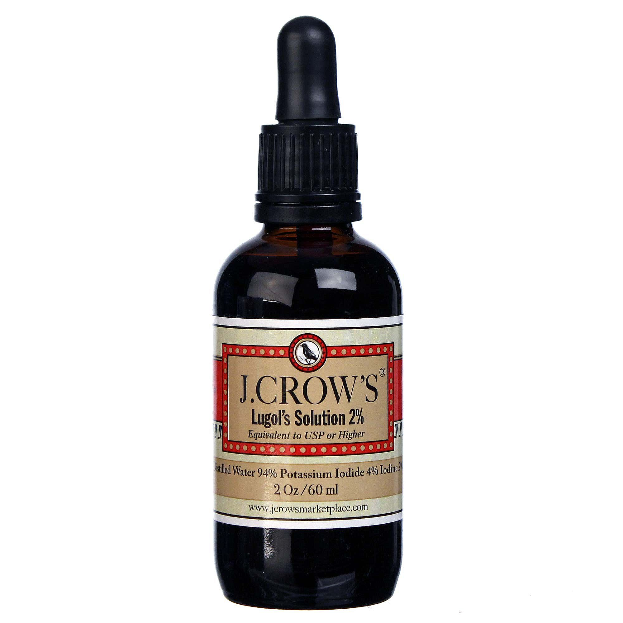 J. Crow's Lugol's Solution 2 Percent - 2 fl oz - eVitamins.com