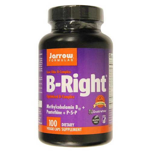 Jarrow Formulas, B-Right® - 100 Cápsulas Vegetarianas - 106435_front.jpg
