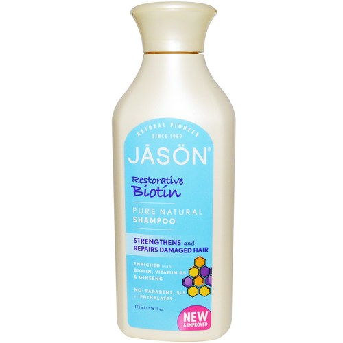 Jason Natural Cosmetics Restorative Biotin Shampoo  - 16 fl oz - 19491_01.jpg
