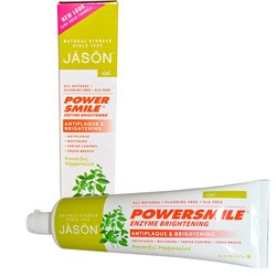Jason Natural Cosmetics PowerSmile Enzyme Brightening Natural Toothpaste