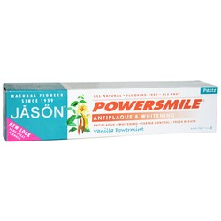 Jason Natural Cosmetics Powersmile Antiplaque  Whitening Toothpaste