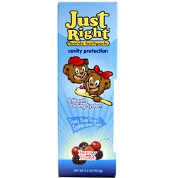 Just Right Flouride Toothpaste Bonus Pack