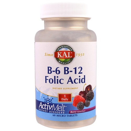 B-6 B-12 Folic Acid