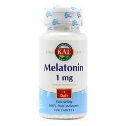 Kal Melatonin 1 mg Fast Acting