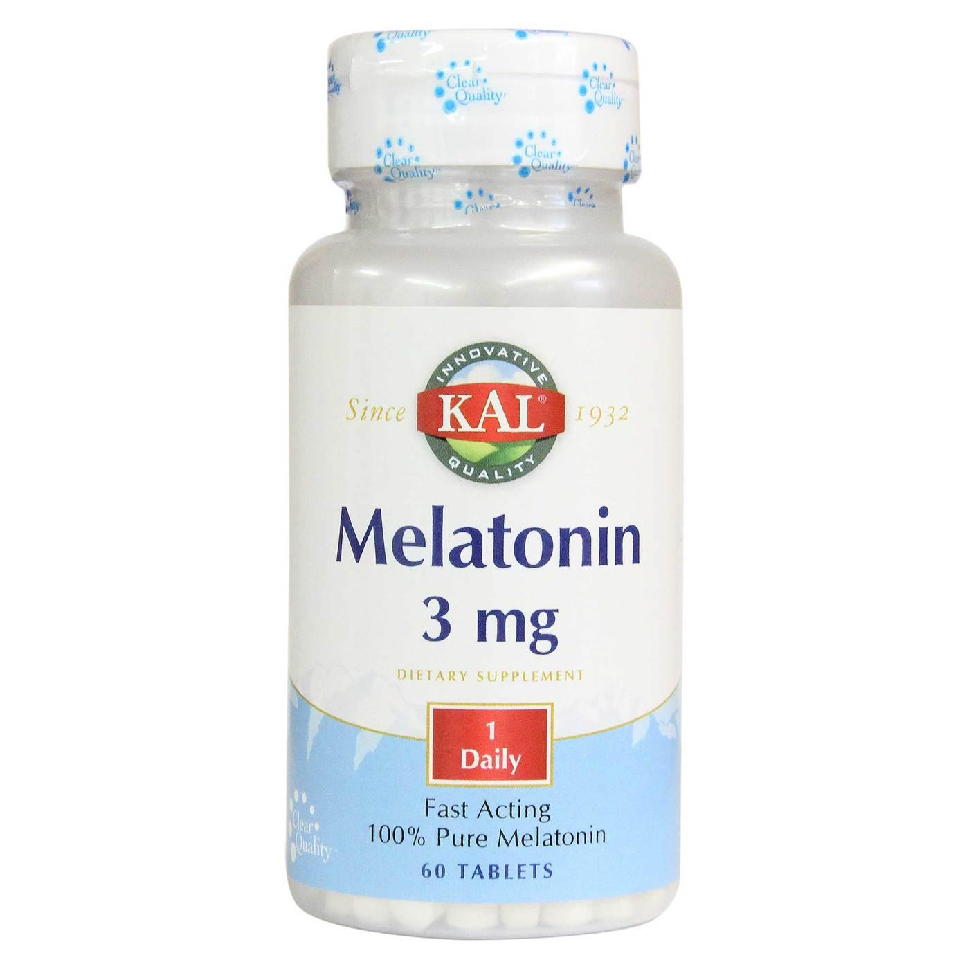Kal Melatonin 3 Mg 120 Tablets: EVitamins.com