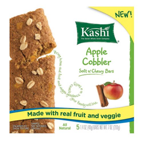 Kashi Soft n' Chewy Bars      Apple Cobbler - 12 - 5 Bar Boxes