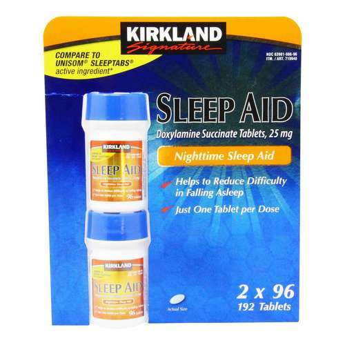 Kirkland Signature Sleep Aid - 192 Tablets - 321472_front2020.jpg