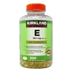 Kirkland Signature E 180 mg (400IU)