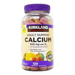 Kirkland Signature Calcium Gummies - 500 mg with D3