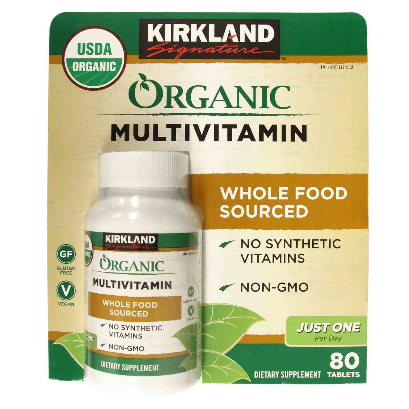 Kirkland Signature Organic Multivitamin One Per Day 80 Tablets