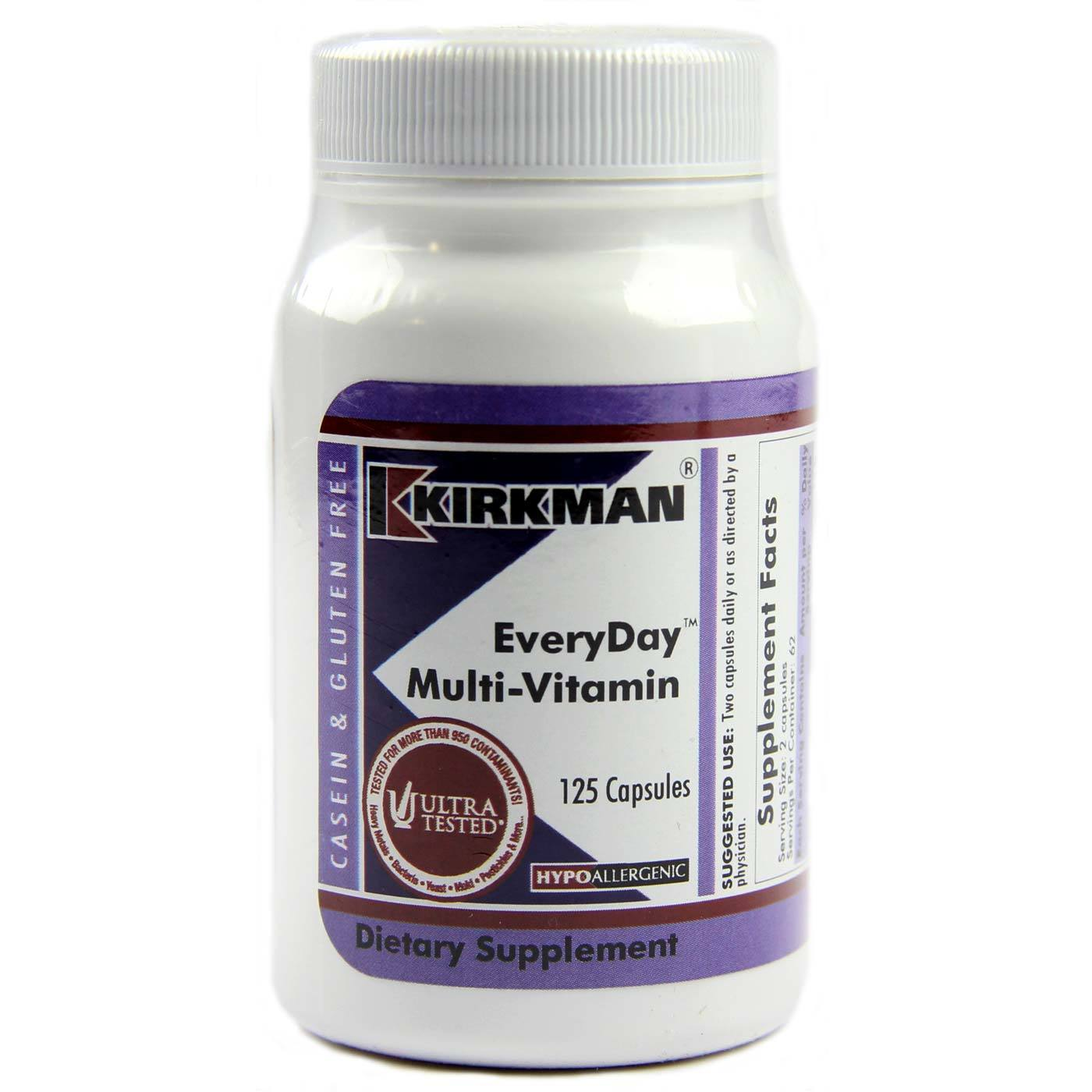 Kirkman Labs Everyday Multi Vitamin Hypoallergenic 125