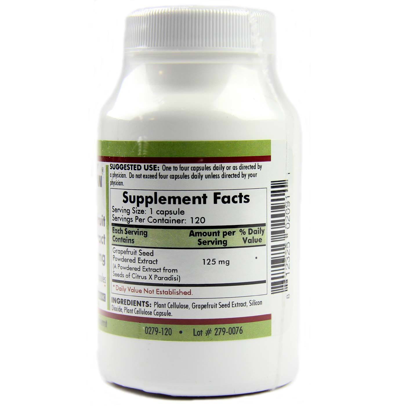 Kirkman Labs Grapefruit Seed Extract 125 Mg Hypoallergenic - 120 VCapsules
