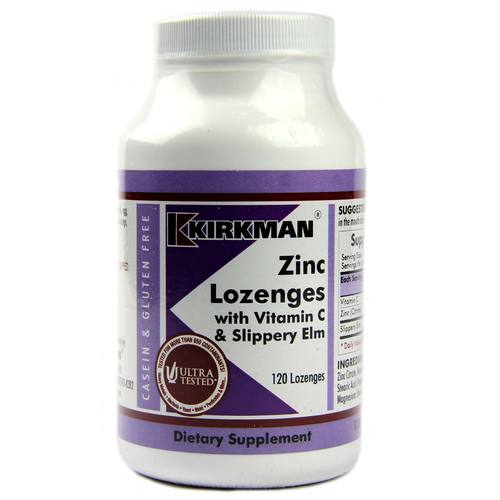 Zinc Lozenges With Vitamin C And Slippery Elm
