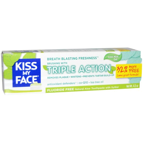 Kiss My Face Triple Action Aloe Vera Toothpaste Peppermint - 4.5 oz - 13363_01.jpg