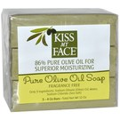 Kiss My Face Fragrance Free Pure Olive Oil Soap - 3 - 4 oz Bars