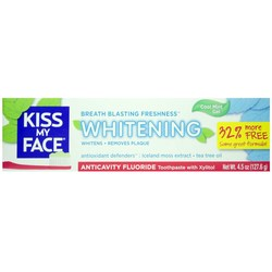 Kiss My Face Whitening Anticavity Fluoride Toothpaste