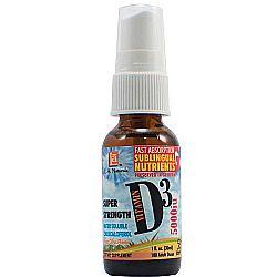 L.A. Naturals Super Strength Vitamin D3 5-000 IU
