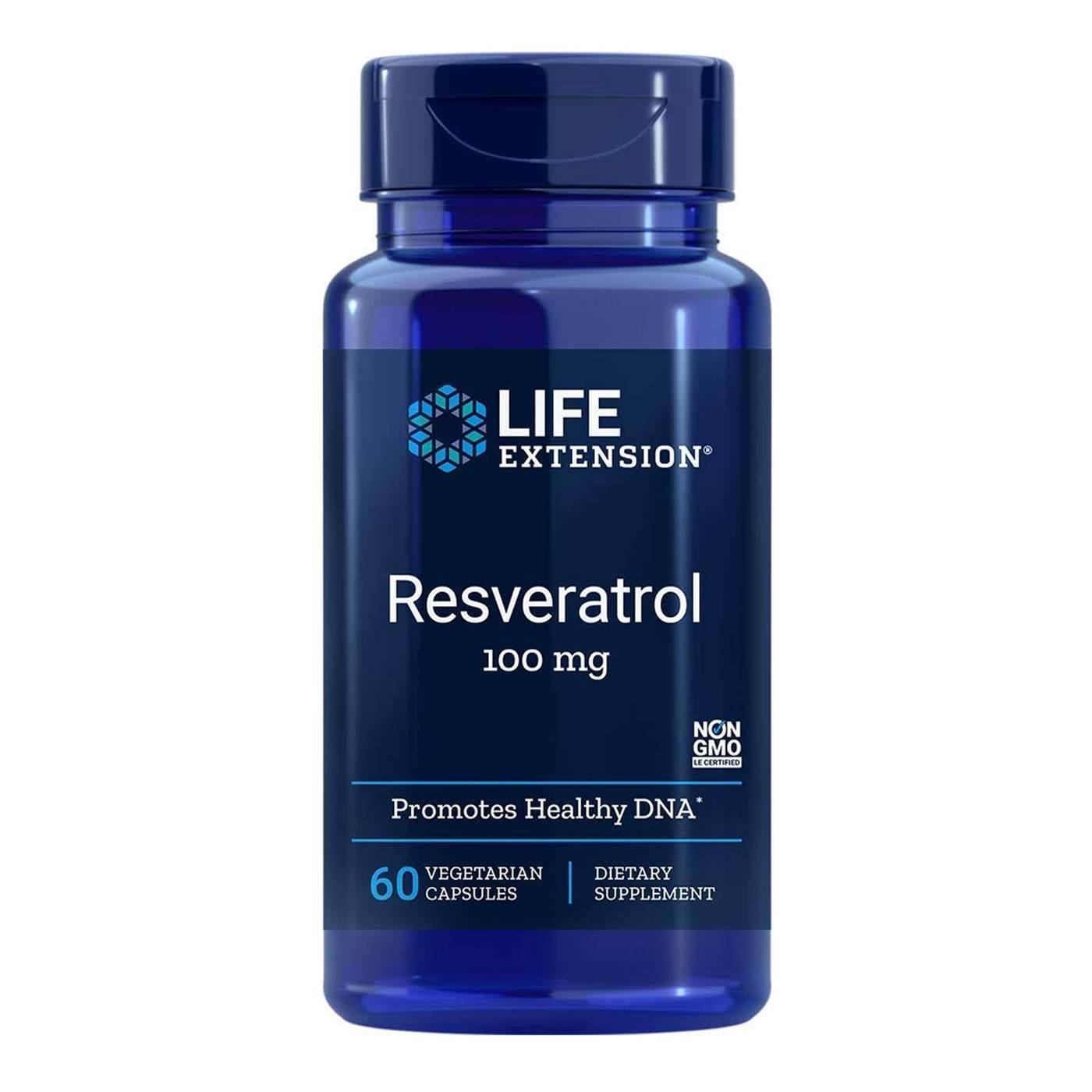 Life Extension Resveratrol 100 Mg 60 Vegetarian Capsules