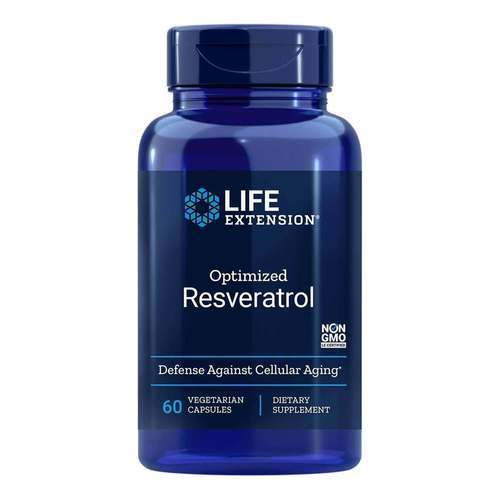 Life Extension Optimized Resveratrol 250 Mg 60 Vegetarian