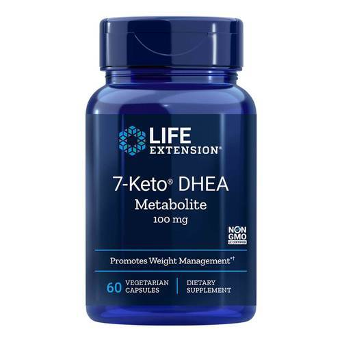 Life Extension 7-Keto DHEA Metabolite  - 100 mg - 60 Vegetarian Capsules - 34815_front2020.jpg