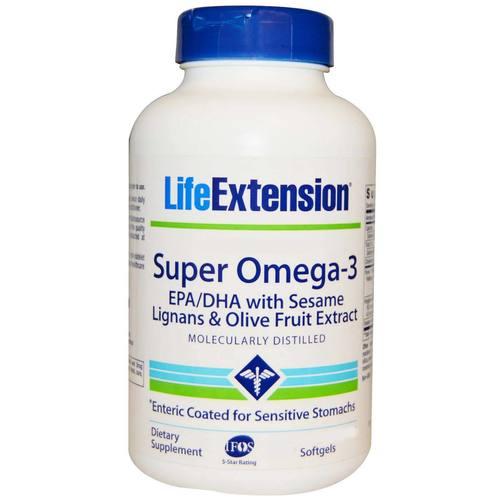 Life extension super omega 3 enteric coated 60 softgels for Super omega 3 fish oil