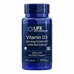 Life Extension Vitamin D3 with Sea-Iodine