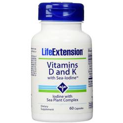 Life Extension Vitamins D and K with Sea-Iodine