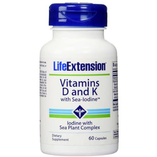 Vitamins D and K with Sea-Iodine