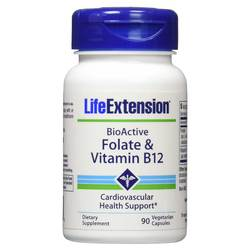 Life Extension Folate and Vitamin B12