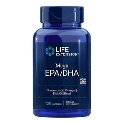Life Extension Mega EPA DHA Omega 3 from Fish Oil Concentrate