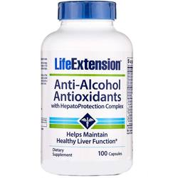 Life Extension Anti-Alcohol Antioxidants with HepatoProtection Complex