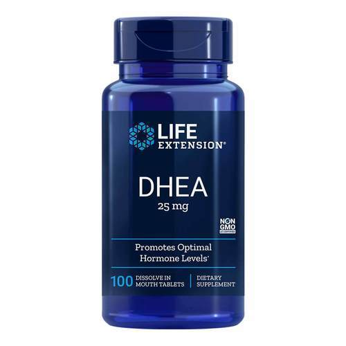 DHEA 25 mg Life Extension 100 Tabletes - 35130_front2020.jpg