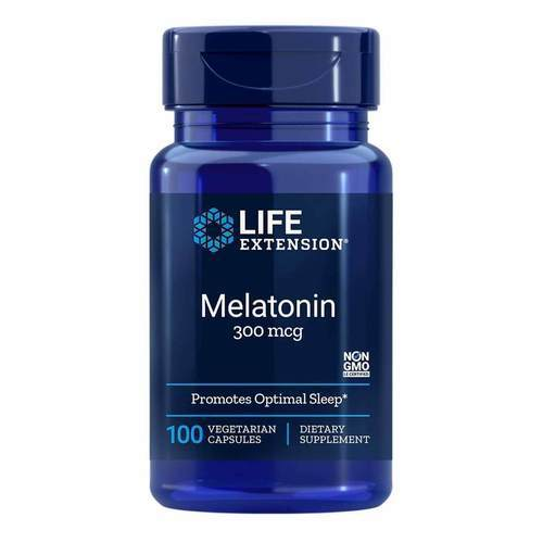 Life Extension Melatonin Immediate Release - 300 mcg - 100 Vegetarian Capsules - 35136_front2020.jpg