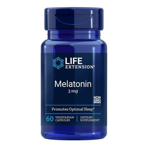 Life Extension Melatonin - 3 mg - 60 Vegetarian Capsules - 35141_front2020.jpg