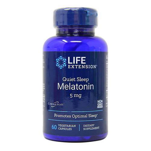 Life Extension Natural Sleep Melatonin - 5 mg - 60 Vegetarian Capsules - 35146_front2020.jpg