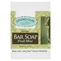 Living Clay Bar Soap Fresh Mint (12 Cartons) 4oz