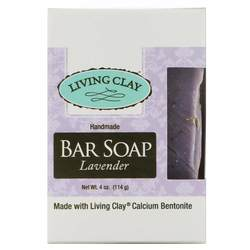 Living Clay Bar Soap Lavender (12 Cartons) 4oz