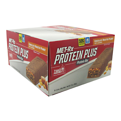 MET-Rx Protein Plus Bars Chocolate Roasted Peanut With Caramel - 9 bars