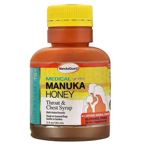 Medical Grade Manuka Honey Throat  Chest Syrup
