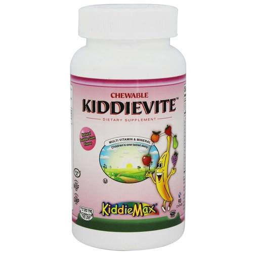 Maxi Health Kosher Vitamins KiddieMax Kiddievite Bubble Gum - 90 Chewable Tablets