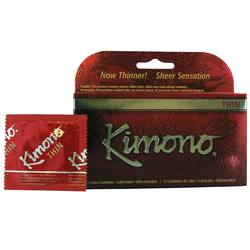 Mayer Laboratories Kimono Lubricated Thin Condoms