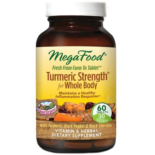 MegaFood Turmeric Strength for Whole Body  - 60 Tablets