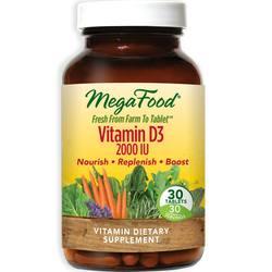 MegaFood Vitamin D3 2,000 IU
