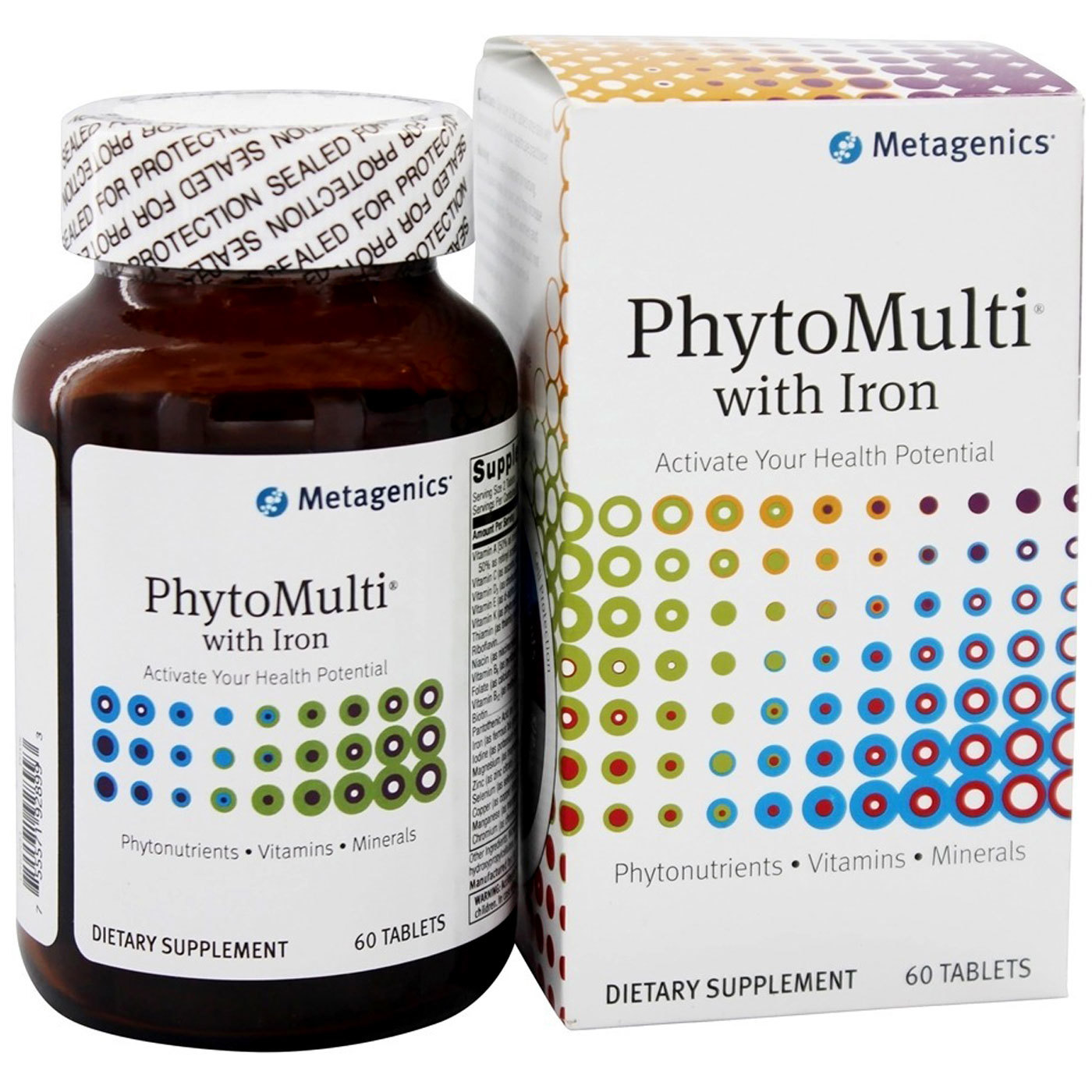 Metagenics Phytomulti With Iron 60 Tablets Evitamins Com