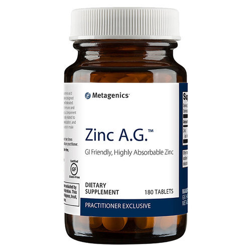 Metagenics Zinc A.G.  - 20 mg - 180 Tablets - 84761_front.jpg