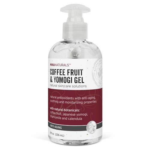 Mika Naturals Anti-Aging Coffee Fruit and Yomogi Gel  - 8 fl oz (236 mL) - 351005_front.jpg
