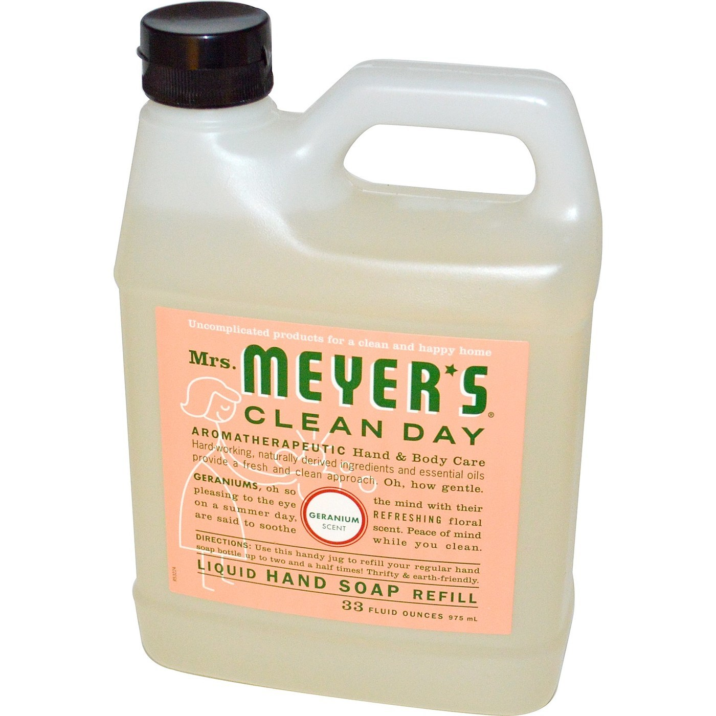 Mrs Meyers Clean Day Liquid Hand Soap Geranium 33 Oz