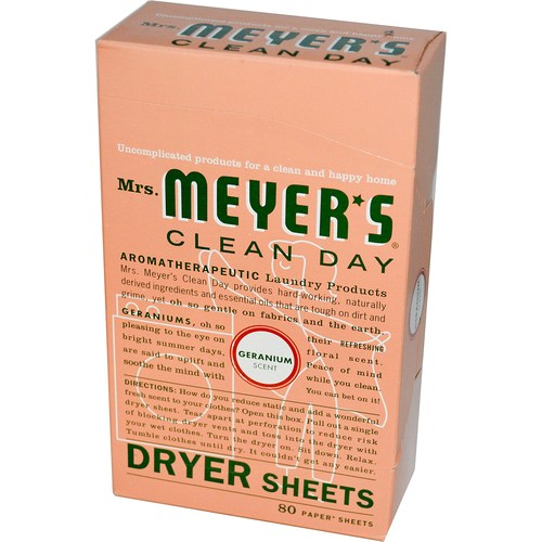 Mrs. Meyers Clean Day Dryer Sheets Geranium - 80 Sheets - 65740_1.jpg