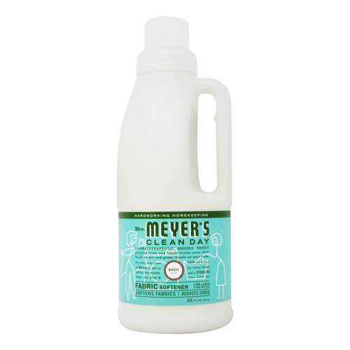 Mrs. Meyers Clean Day Fabric Softener Basil - 32 fl oz (946 ml) - 65749_front2020.jpg