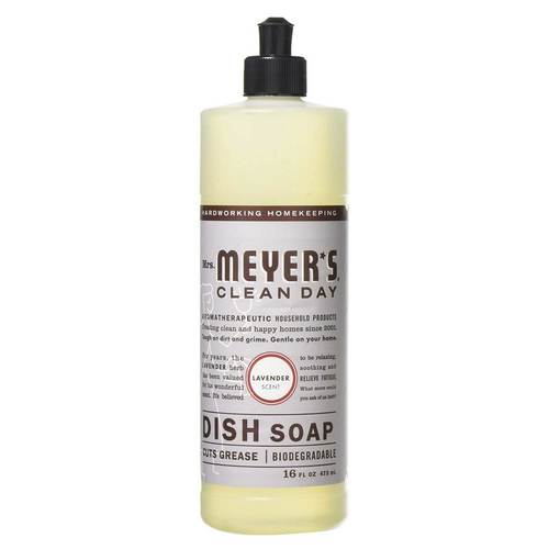 Mrs. Meyers Clean Day Dish Soap Lavender - 16 fl oz - 65756_front.jpg
